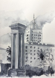 Acuarela Plaza de la Marina