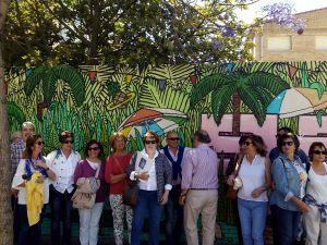 Visita a la Playa de Ímon. Jane's Walk Málaga 2017. Foto M. Mur
