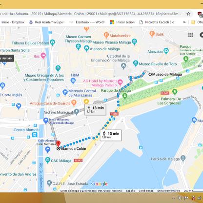 itinerario paseo febrero 2019