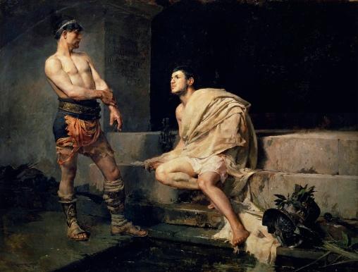 Gladiadores_después_del_combate,_por_José_Moreno_Carbonero